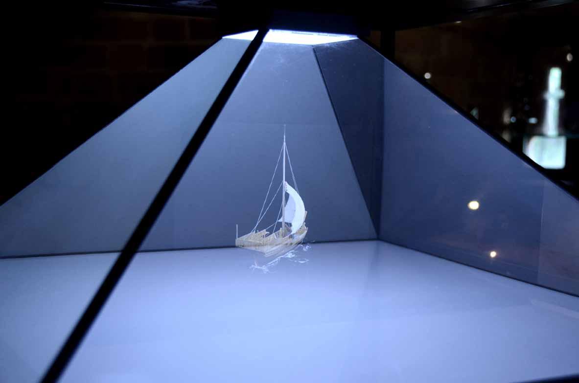 Hologram w muzeum
